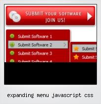 Expanding Menu Javascript Css