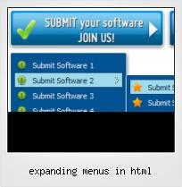 Expanding Menus In Html