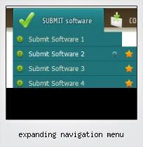 Expanding Navigation Menu
