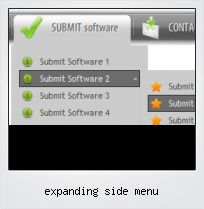 Expanding Side Menu