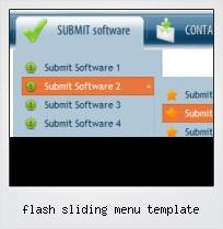 Flash Sliding Menu Template