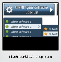 Flash Vertical Drop Menu
