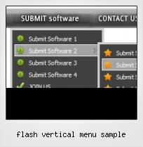 Flash Vertical Menu Sample