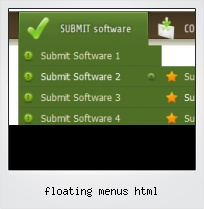 Floating Menus Html