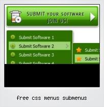 Free Css Menus Submenus Template