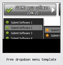Free Dropdown Menu Template