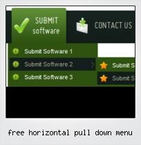 Free Horizontal Pull Down Menu