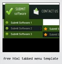 Free Html Tabbed Menu Template