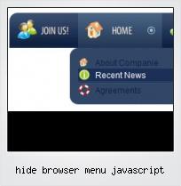 Hide Browser Menu Javascript