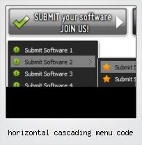 Horizontal Cascading Menu Code