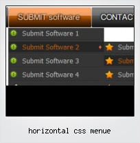Horizontal Css Menue