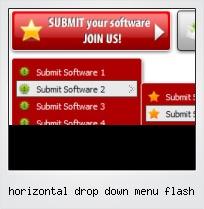 Horizontal Drop Down Menu Flash