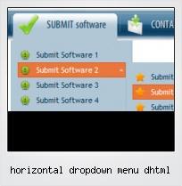 Horizontal Dropdown Menu Dhtml