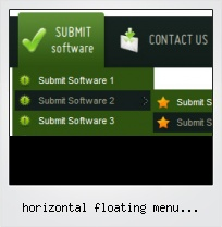 Horizontal Floating Menu Javascript