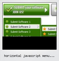 Horizontal Javascript Menu Examples
