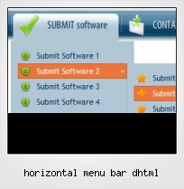 Horizontal Menu Bar Dhtml
