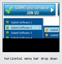 Horizontal Menu Bar Drop Down