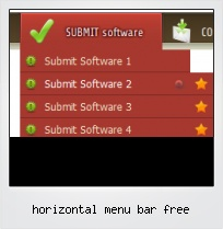 Horizontal Menu Bar Free