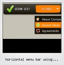 Horizontal Menu Bar Using Javascript