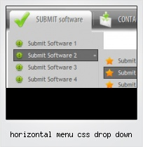 Horizontal Menu Css Drop Down