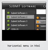 Horizontal Menu In Html