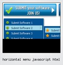 Horizontal Menu Javascript Html