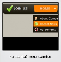 Horizontal Menu Samples