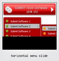 Horizontal Menu Slide