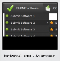Horizontal Menu With Dropdown