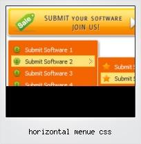 Horizontal Menue Css