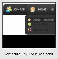 Horizontal Pulldown Css Menu