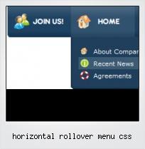 Horizontal Rollover Menu Css