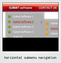 Horizontal Submenu Navigation