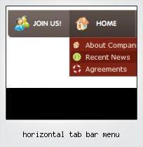 Horizontal Tab Bar Menu