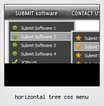 Horizontal Tree Css Menu
