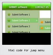 Html Code For Jump Menu