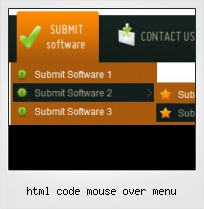 Html Code Mouse Over Menu