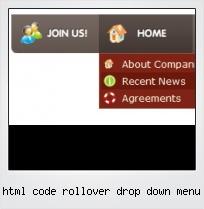 Html Code Rollover Drop Down Menu
