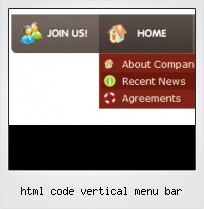 Html Code Vertical Menu Bar
