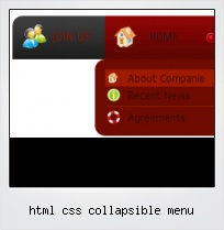 Html Css Collapsible Menu