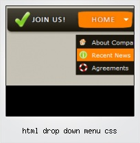 Html Drop Down Menu Css