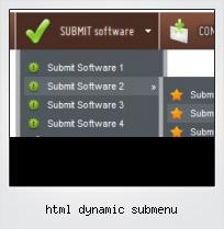 Html Dynamic Submenu