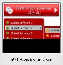 Html Floating Menu Css