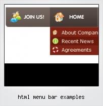 Html Menu Bar Examples