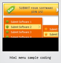 Html Menu Sample Coding