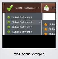 Html Menus Example