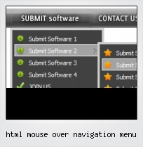 Html Mouse Over Navigation Menu