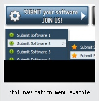 Html Navigation Menu Example