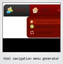 Html Navigation Menu Generator