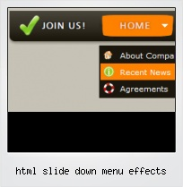 Html Slide Down Menu Effects